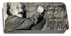 Albert Einstein, Physicist Who Loved Music Portable Battery Charger