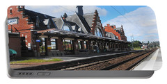 Portable Battery Charger featuring the photograph Albert Train Station, France by Therese Alcorn