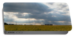Alberta Wheat Field Portable Battery Charger by Stuart Turnbull
