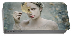 Albino In Forest. Prickle Tenderness Portable Battery Charger