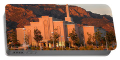 Albuquerque Lds Temple At Sunset 1 Portable Battery Charger