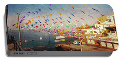 Alcala Harbour With Flags Portable Battery Charger