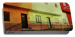 Portable Battery Charger featuring the photograph Alcala Orange Green Red Houses by Anne Kotan
