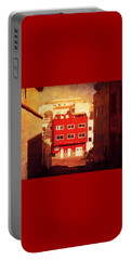 Portable Battery Charger featuring the photograph Alcala Red House No1 by Anne Kotan