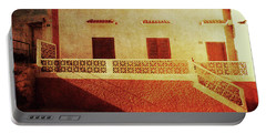 Alcala Yellow Red House Portable Battery Charger