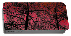 Alder Trees Against The Winter Sunrise Portable Battery Charger