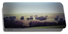 Alentejo In The Mist Portable Battery Charger by Marion McCristall