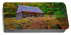 Alex Cole Cabin At Jim Bales Place, Roaring Fork Motor Trail In The Smoky Mountains Tennessee Portable Battery Charger