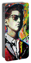 Portable Battery Charger featuring the painting Alex Turner by Richard Day