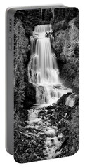 Portable Battery Charger featuring the photograph Alexander Falls - Bw 2 by Stephen Stookey