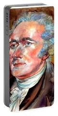 Alexander Hamilton Watercolor Portable Battery Charger