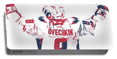 Alexander Ovechkin Washington Capitals Pixel Art 9 Portable Battery Charger