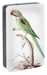 Alexandrine Parakeet Portable Battery Charger by Nicolas Robert