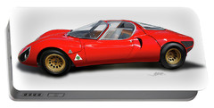 Alfa Romeo 33 Stradale 1967 Portable Battery Charger by Alain Jamar