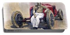 Alfa Romeo Monza Tazio Nuvolari 1932 Portable Battery Charger