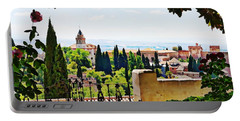 Alhambra Gardens, Digital Paint Portable Battery Charger