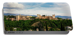 Alhambra In The Evening Portable Battery Charger by Marion McCristall
