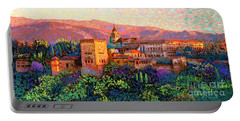 Alhambra, Grenada, Spain Portable Battery Charger by Jane Small