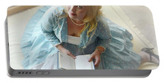 Alice In Wonderland Reads Her Story Portable Battery Charger