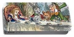 Portable Battery Charger featuring the photograph Alices Mad-tea Party, 1865 by Granger