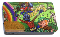 Portable Battery Charger featuring the painting Alien Go Bragh by Similar Alien