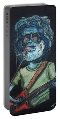 Alien Jerry Garcia Portable Battery Charger by Similar Alien