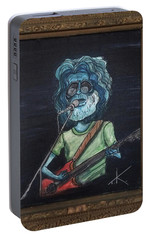 Portable Battery Charger featuring the painting Alien Jerry Garcia by Similar Alien