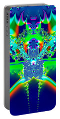 Portable Battery Charger featuring the digital art Alien Poodle Fractal 96 by Rose Santuci-Sofranko
