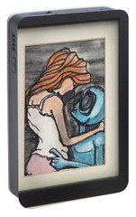 Portable Battery Charger featuring the painting Alien Seduction by Similar Alien