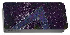 Portable Battery Charger featuring the painting Alien Skies Ufo by James Williamson