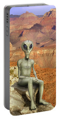 Alien Vacation - Grand Canyon Portable Battery Charger by Mike McGlothlen
