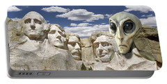 Alien Vacation - Mount Rushmore 2 Portable Battery Charger by Mike McGlothlen
