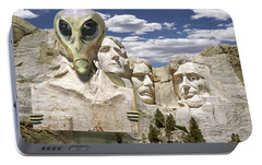Alien Vacation - Mount Rushmore Portable Battery Charger by Mike McGlothlen