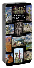 Alien Vacation - Poster Portable Battery Charger by Mike McGlothlen