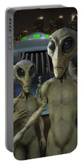 Alien Vacation - The Arrival  Portable Battery Charger by Mike McGlothlen