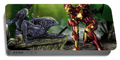 Alien Vs Iron Man Portable Battery Charger