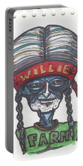 alien Willie Nelson Portable Battery Charger by Similar Alien