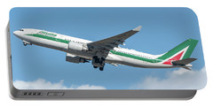 Alitalia Airbus A330-200 Departed From Milano Malpensa Portable Battery Charger