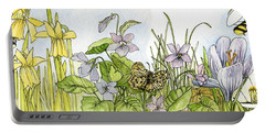 Alive In A Spring Garden Portable Battery Charger