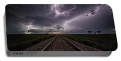 Portable Battery Charger featuring the photograph All Aboard  by Aaron J Groen