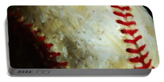 All American Pastime - Baseball - Square - Painterly Portable Battery Charger