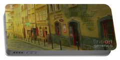 All Downhill From Here - Prague Street Scene Portable Battery Charger