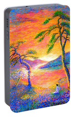 Buddha Meditation, All Things Bright And Beautiful Portable Battery Charger by Jane Small