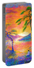 Buddha Meditation, All Things Bright And Beautiful Portable Battery Charger
