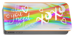All You Need Is Love Art Iv Portable Battery Charger