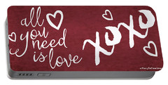 All You Need Is Love Art V Portable Battery Charger