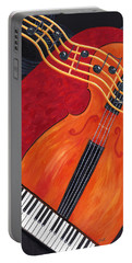 Portable Battery Charger featuring the painting Allegro by Karen Zuk Rosenblatt