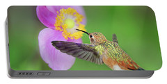 Allens Hummingbird And Anemone Portable Battery Charger