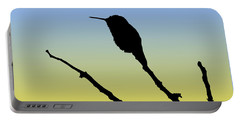 Allen's Hummingbird Silhouette At Sunrise Portable Battery Charger