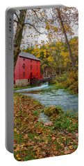 Alley Mill In Autumn Portable Battery Charger by Jennifer White